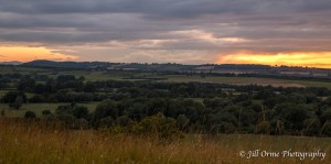 Vale of Evesham sunset